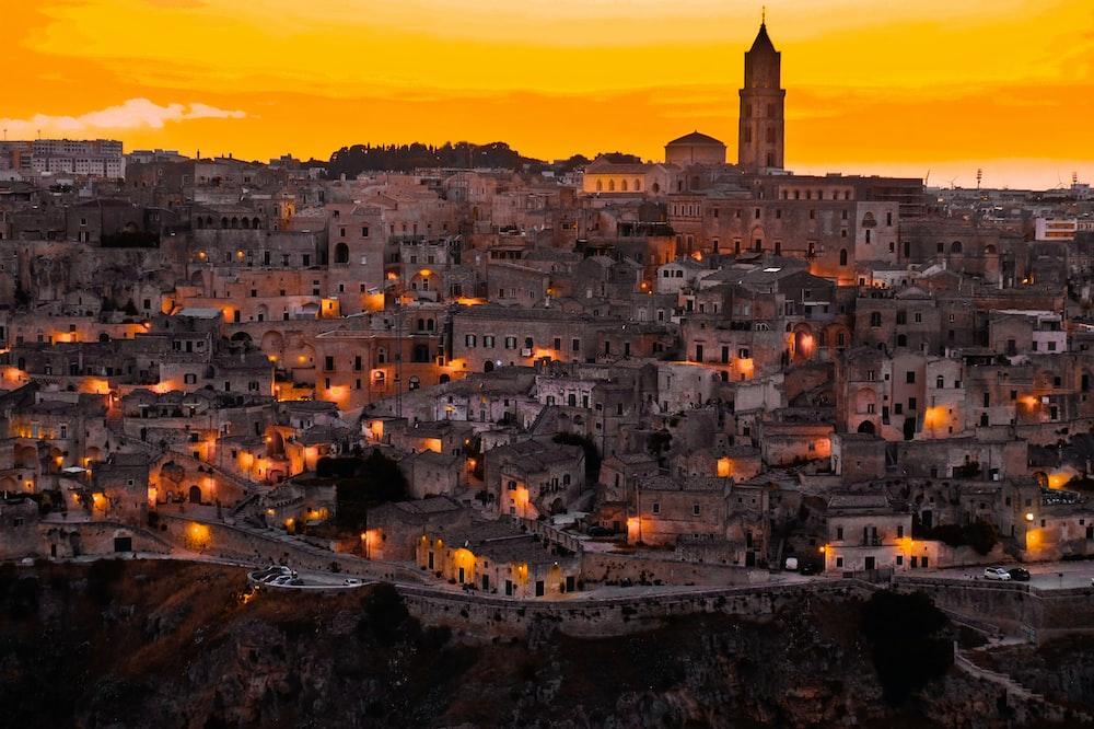photo of illuminated city