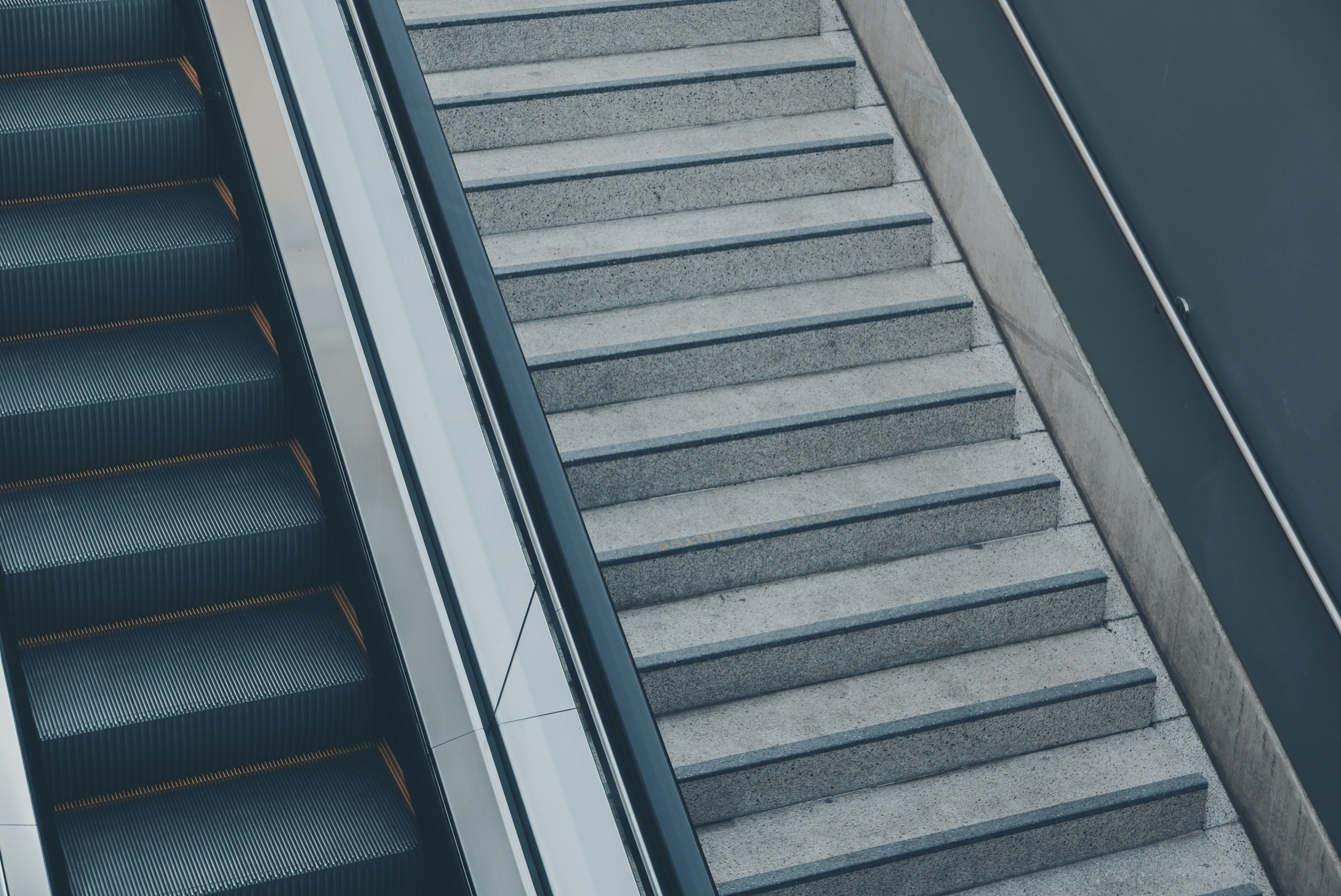 photo of grey stair