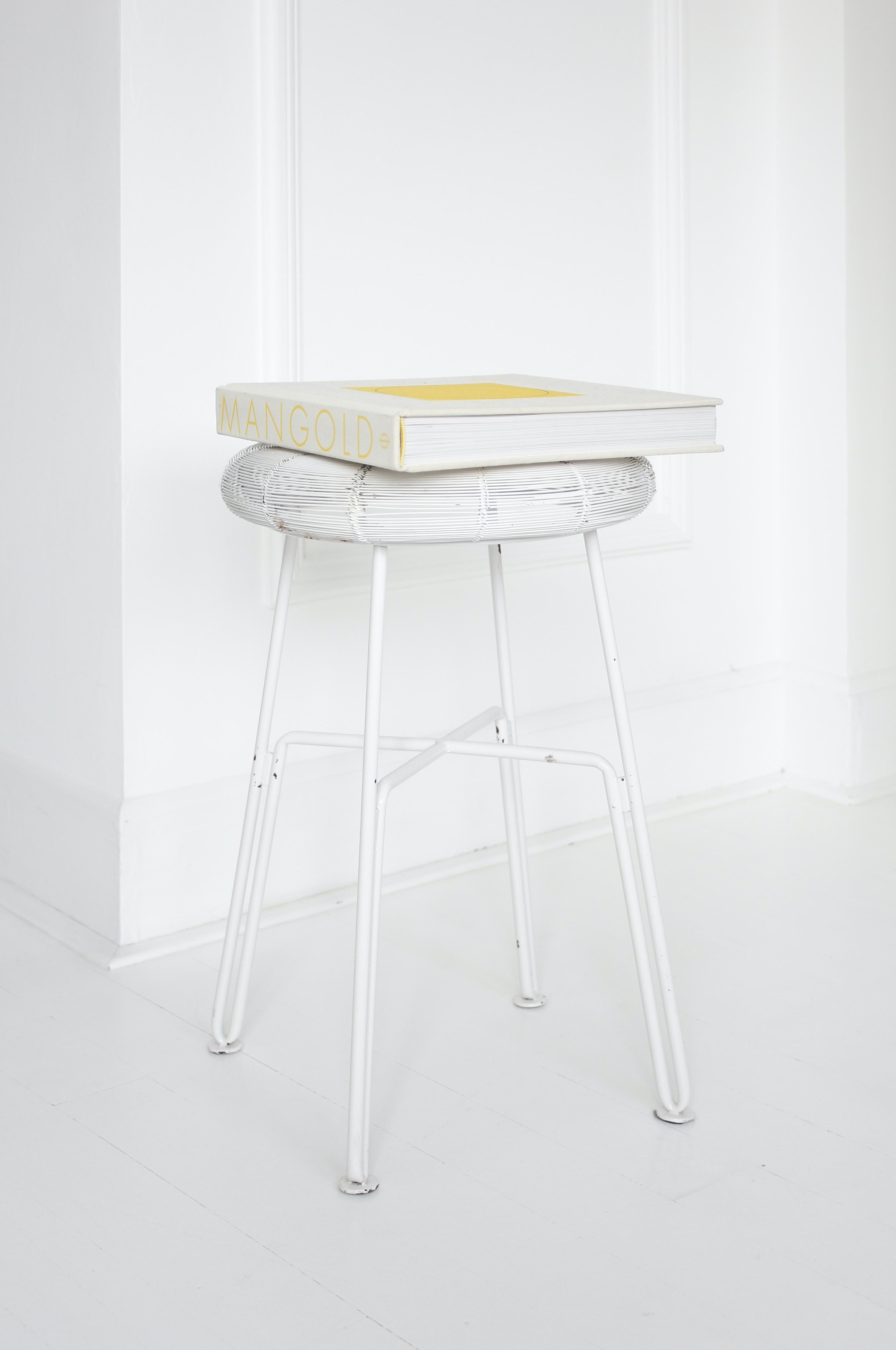 Mangold box on white stool