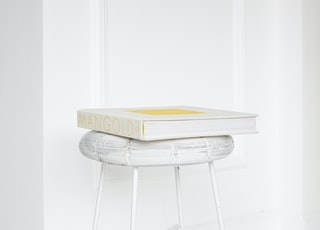 Mangold box on white stool