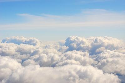 nimbus clouds and blue calm sky cloud teams background
