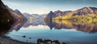 lake and mountains digital photo
