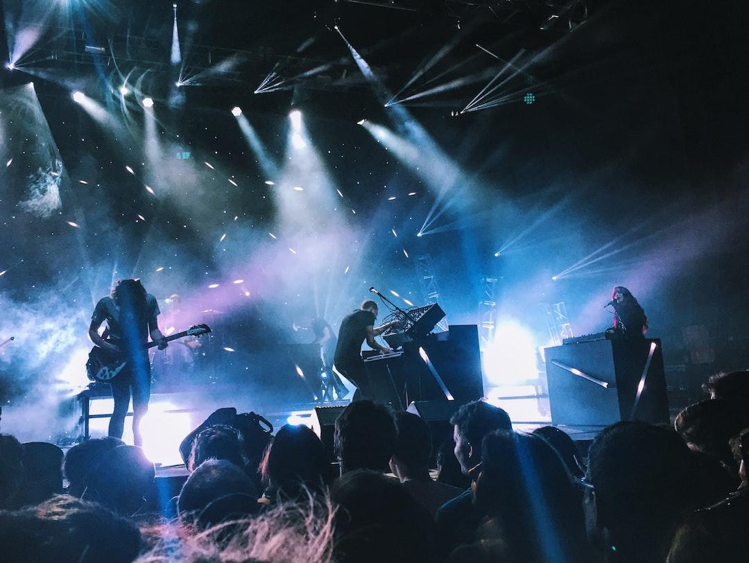 Rock concert in Merriweather Post Pavilion