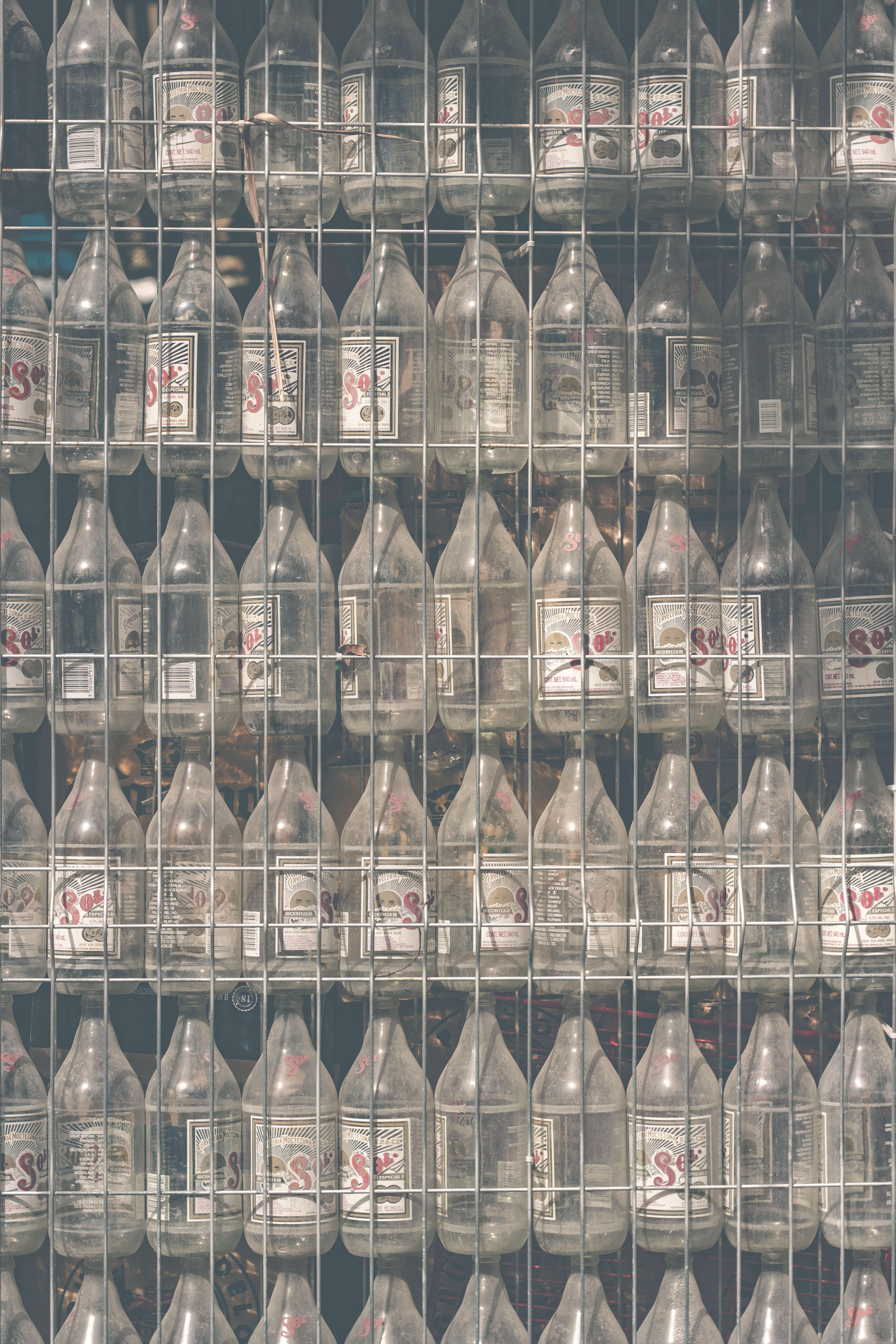 clear glass bottle lot