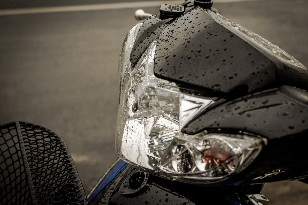 selective focus photography of motorcycle