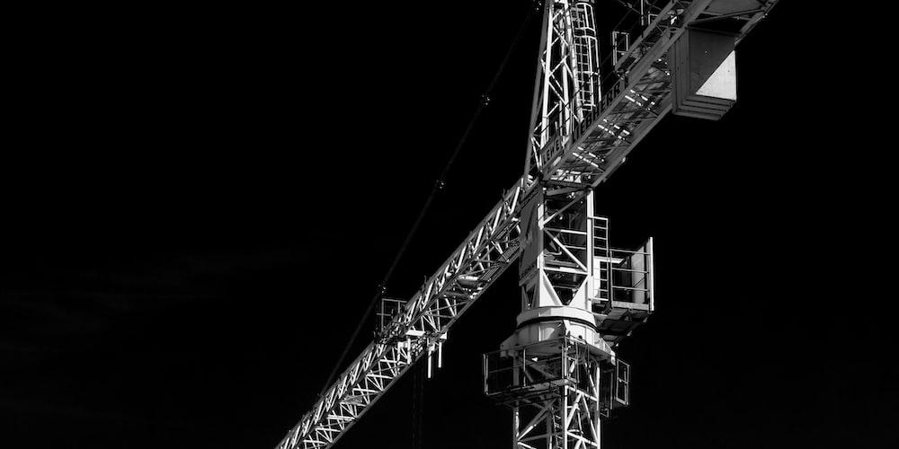 gray steel crane