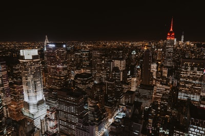 aerial photo of Empire State building during nighttime