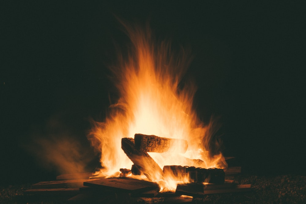 fire during night time