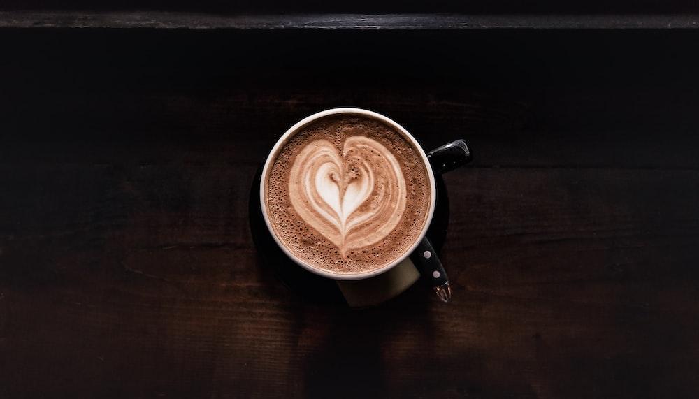 coffee in black ceramic mug