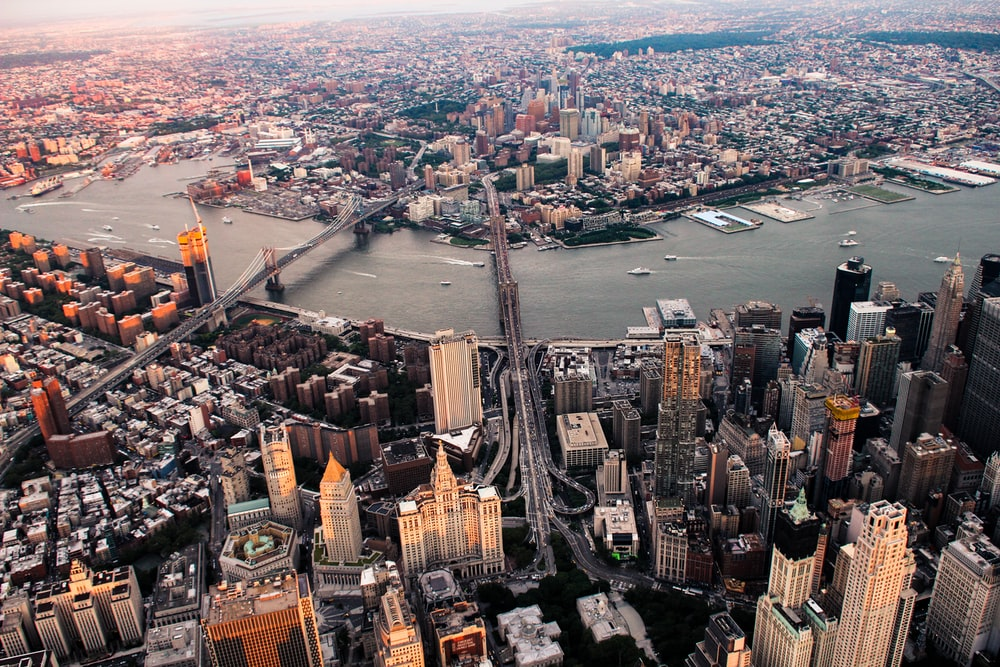 aerial view of New York city during daytime
