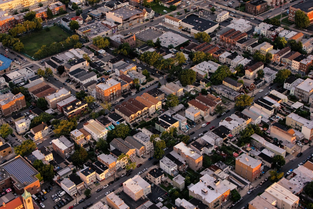 Urban Neighborhood Aerial View And House Hd Photo By