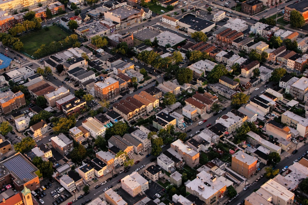 bird's eye view photography of houses