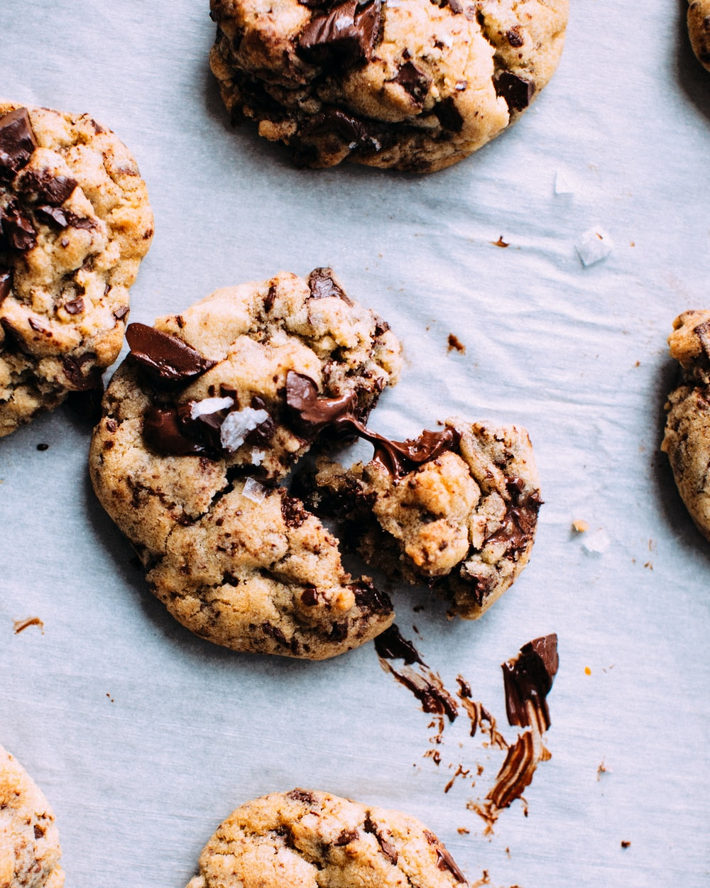 close-up photo of baked cookies