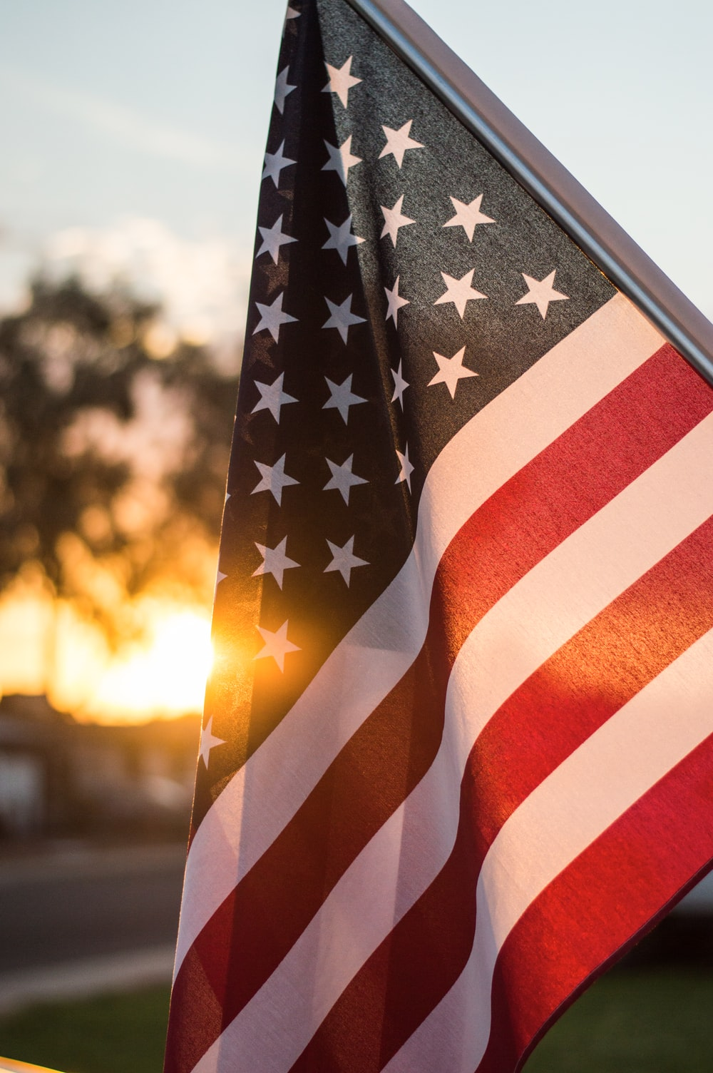 selective focus photo of U.S.A. flag