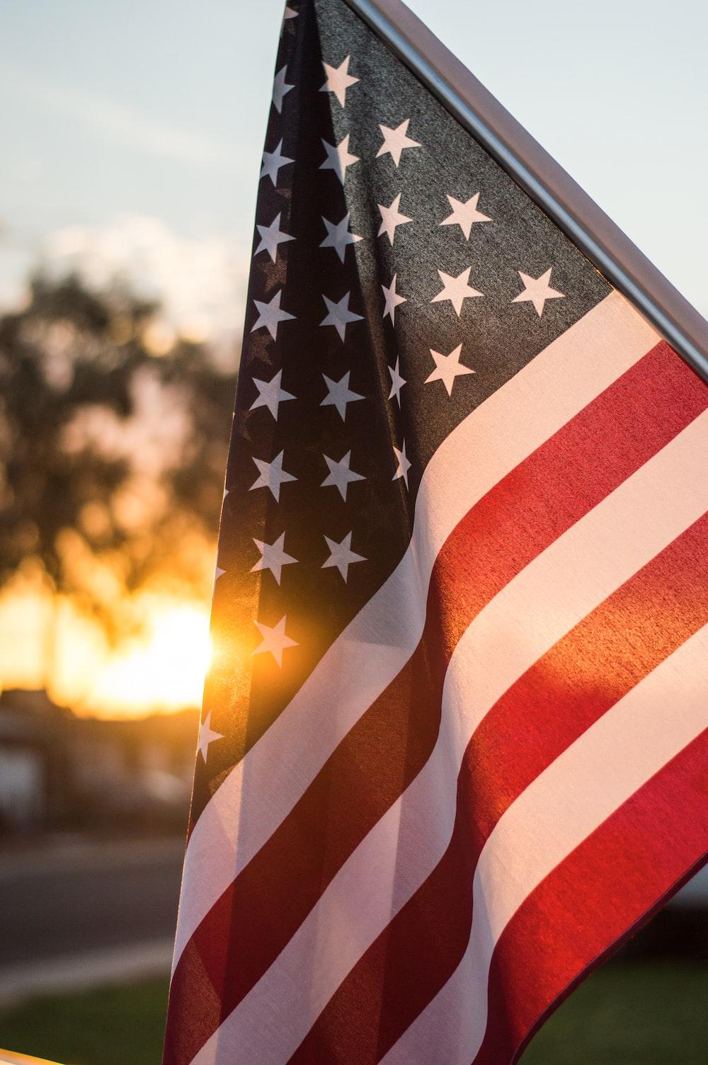 selective focus photo of U.S.A. flag
