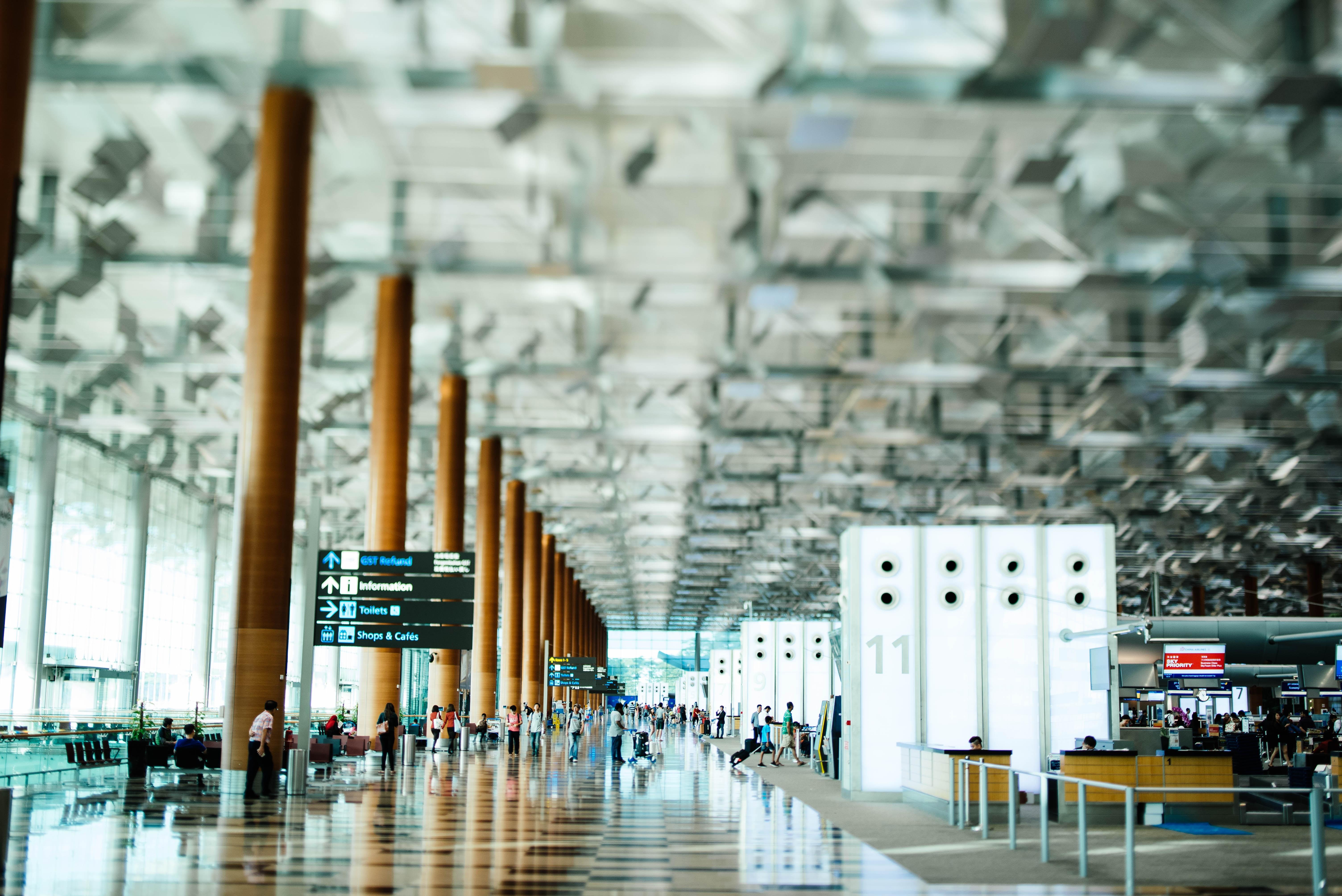tilt photo of airport interior taken at daytime