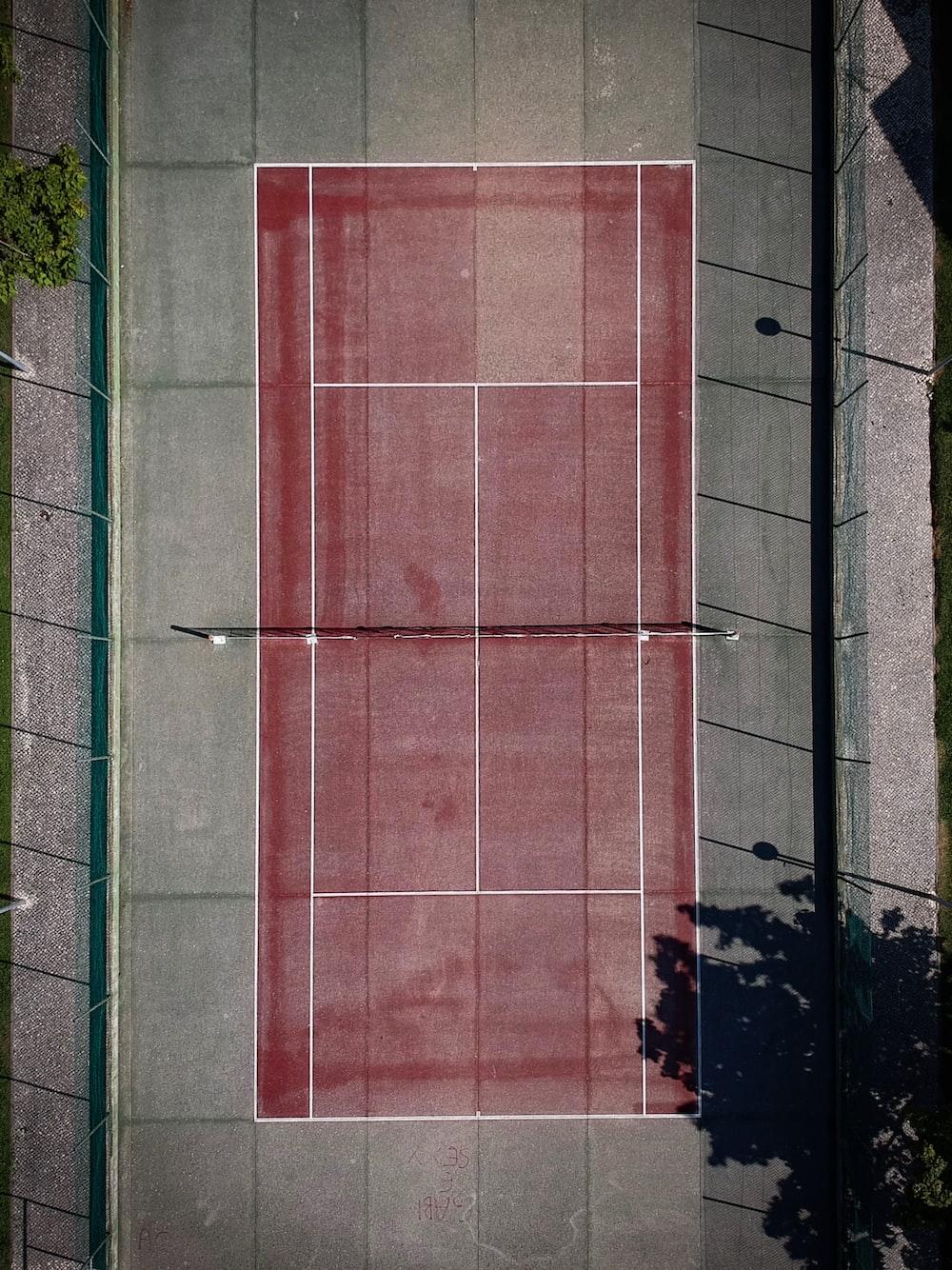 red tennis court