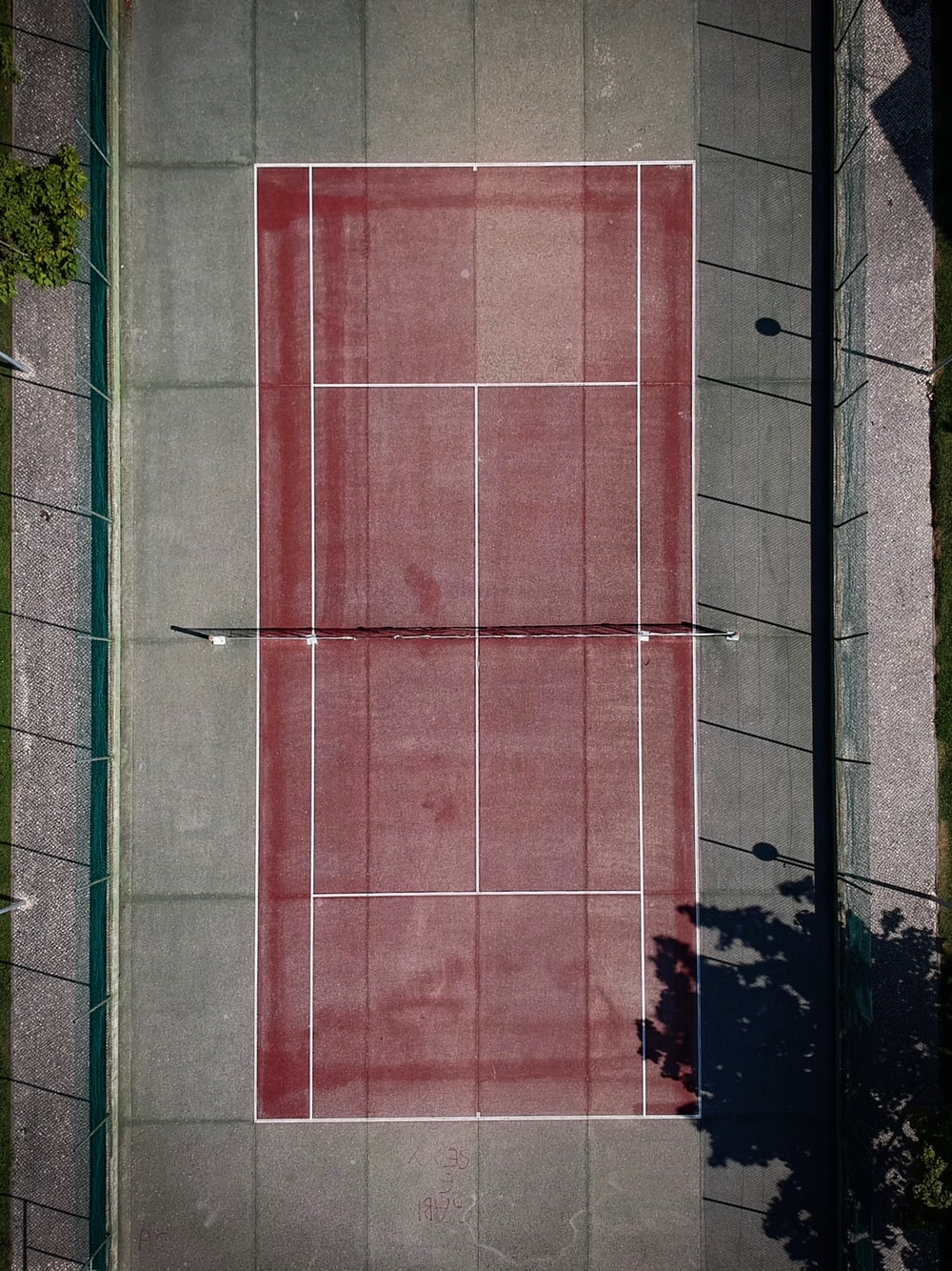 red tennis court