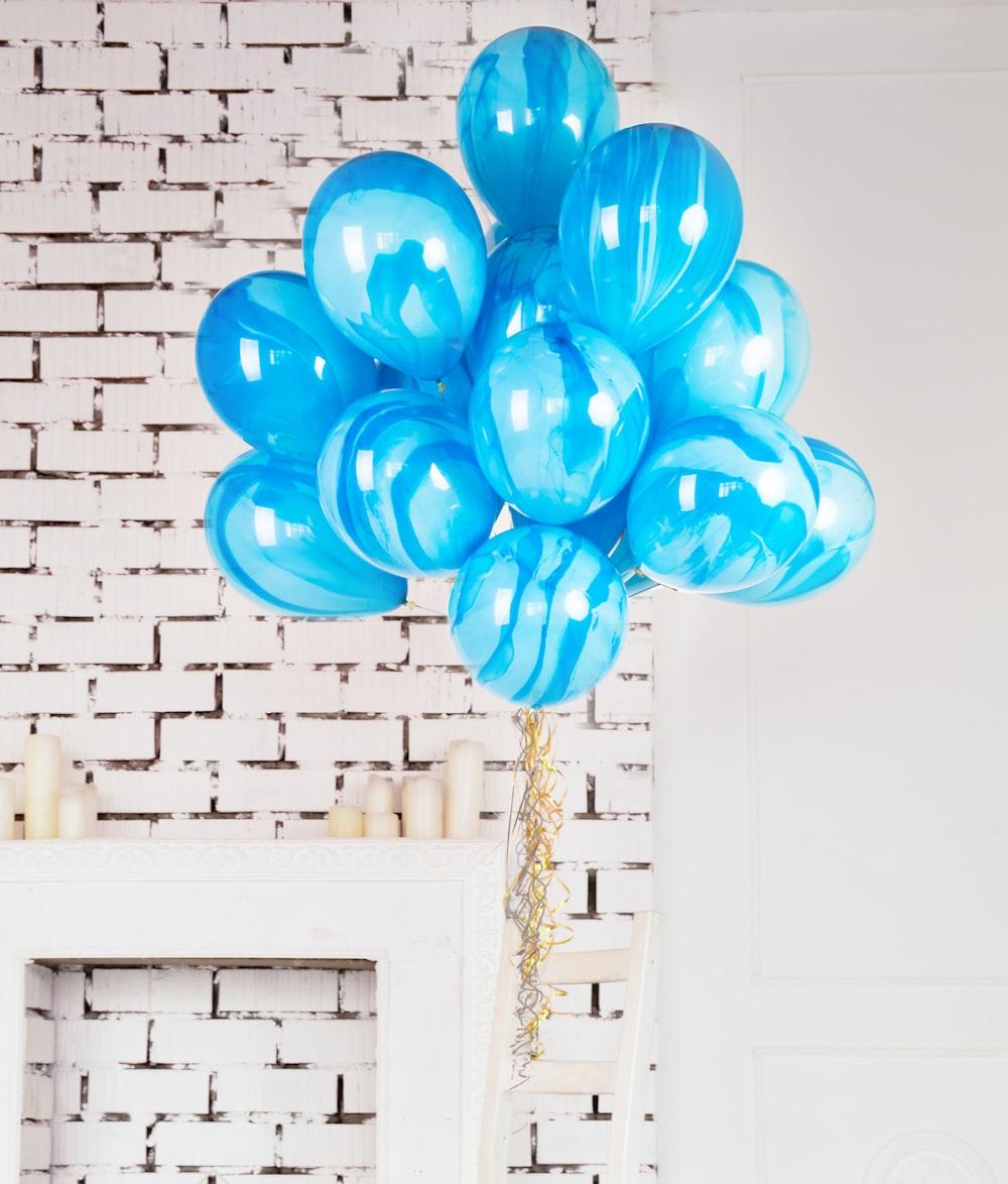 blue balloons home decor