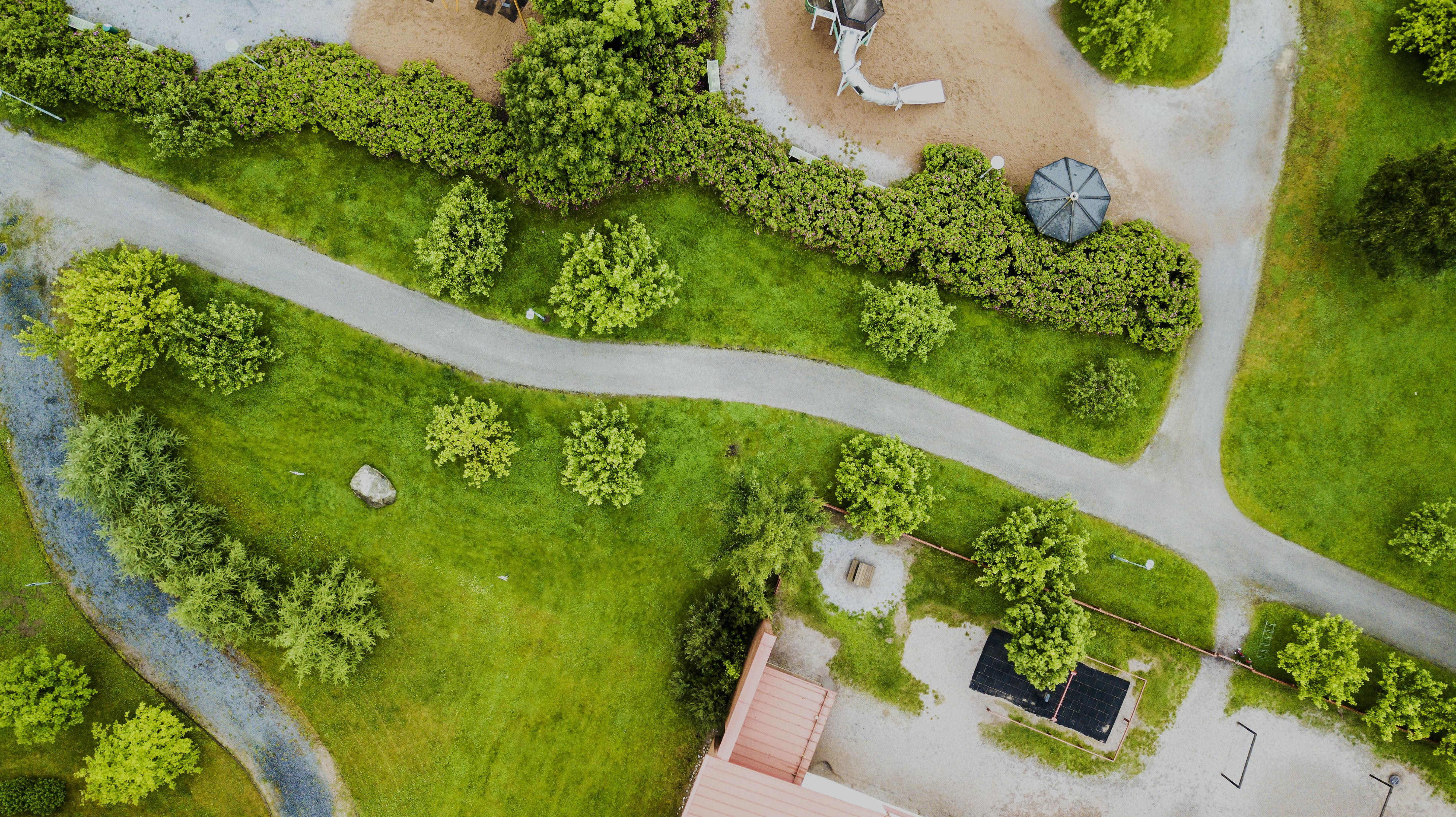 high-angle photography of village