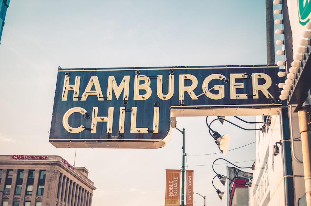 Hamburger Chili signage near CVS building