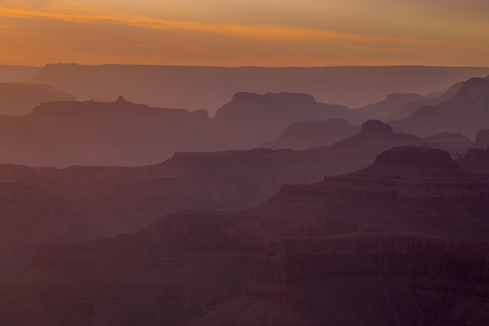 canyon with fog
