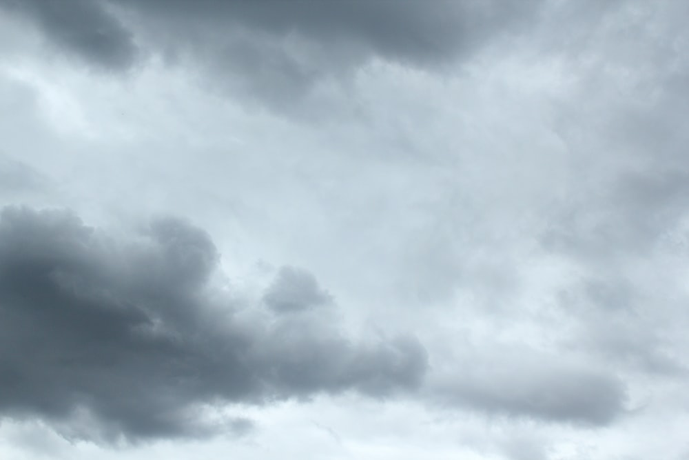 selective focus photography of gray clouds
