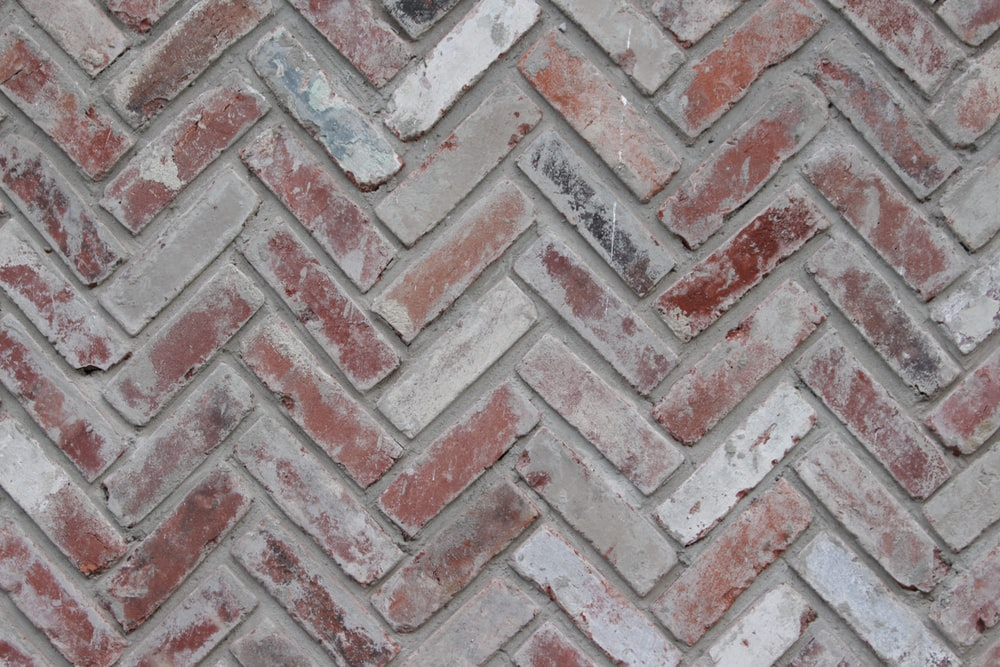brown and gray concrete brick wall