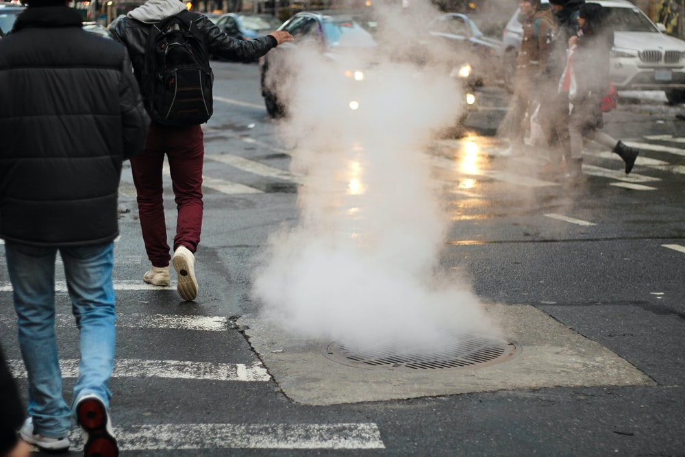 smoke in manhole