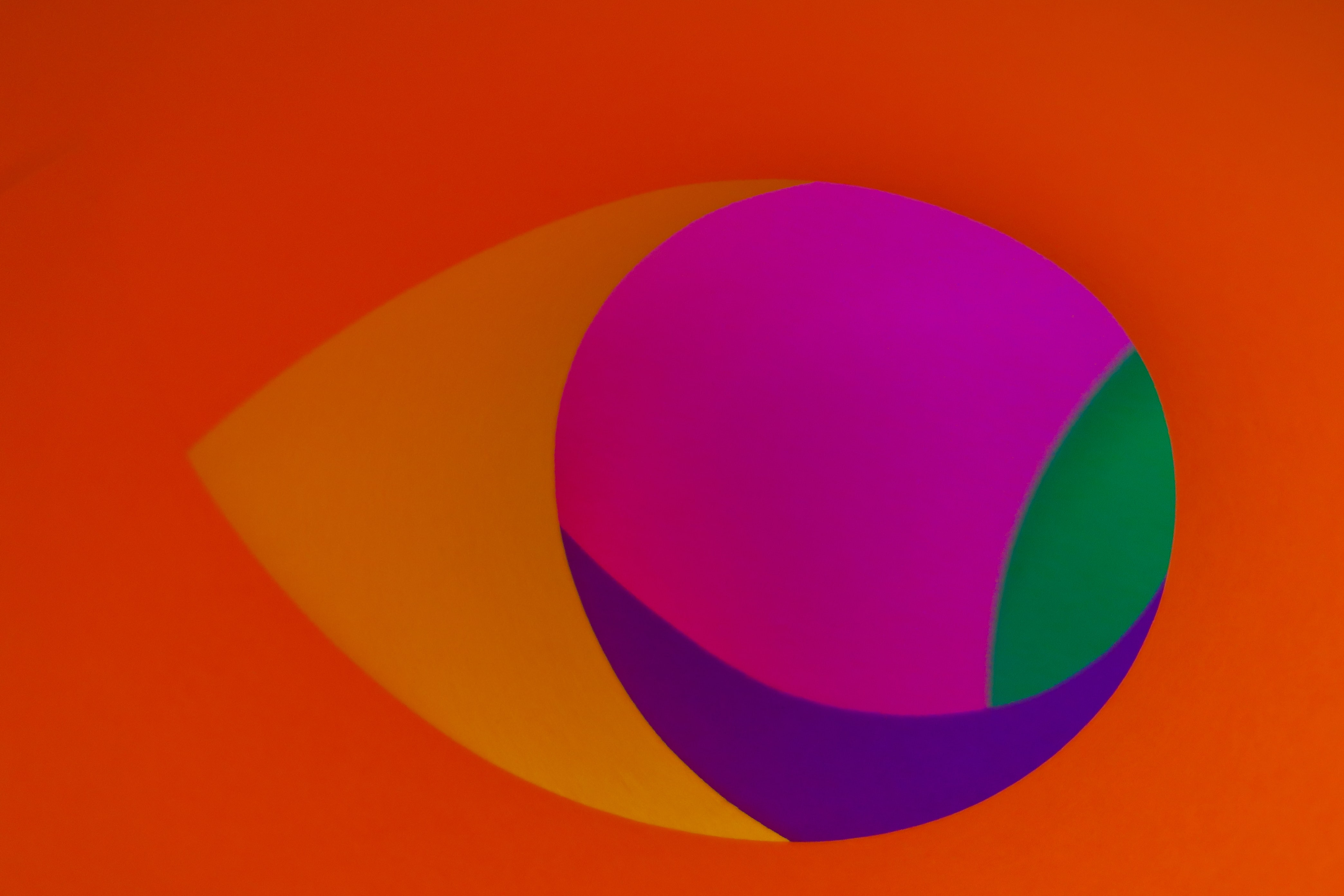 pink, orange, and purple abstract art