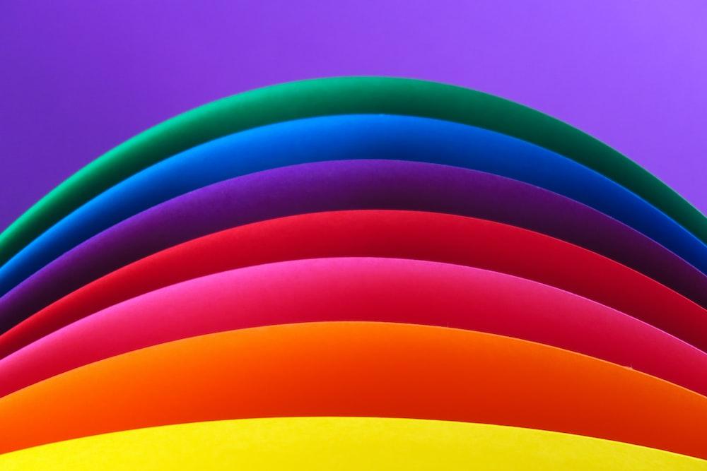 multicolored rainbow artwork