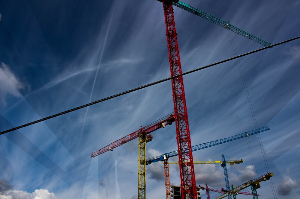 low angle photography of crane tower