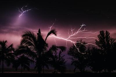 time-lapse photography of thunderbolt liberia zoom background