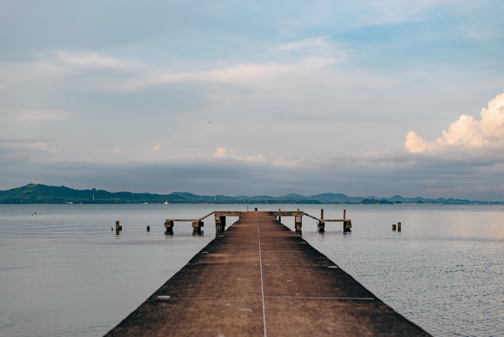 yatch dock during daytime