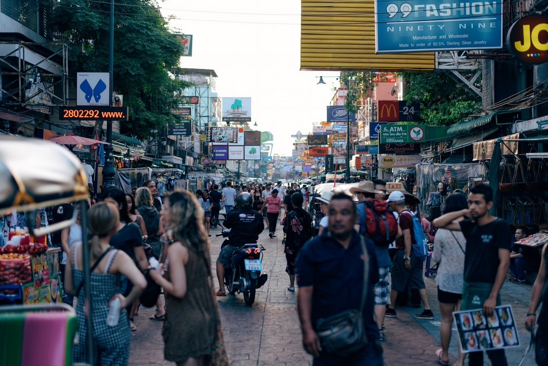 Khaosan Road used to be a major rice market in Bangkok but these days it's a popular backpacker ghetto.