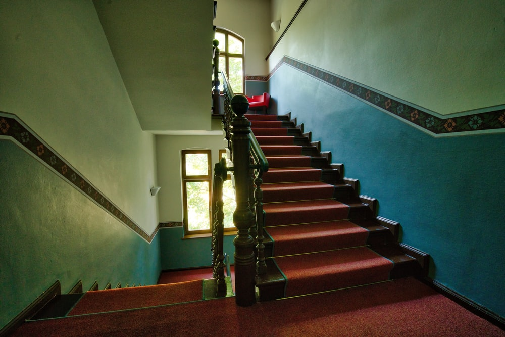 empty brown staircase