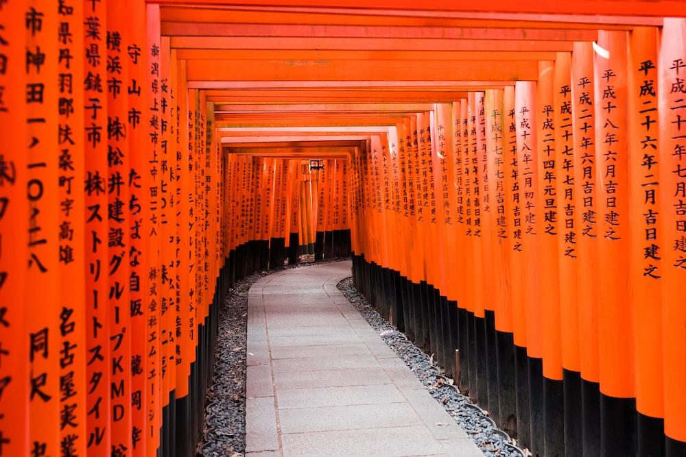 orange and black paper decors at daytime