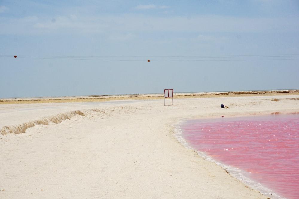 empty sea shore
