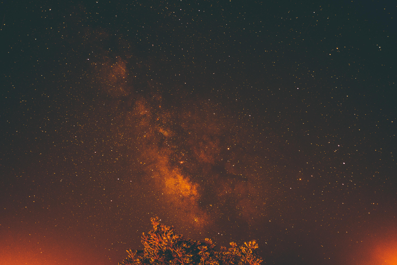 galaxy view on night sky
