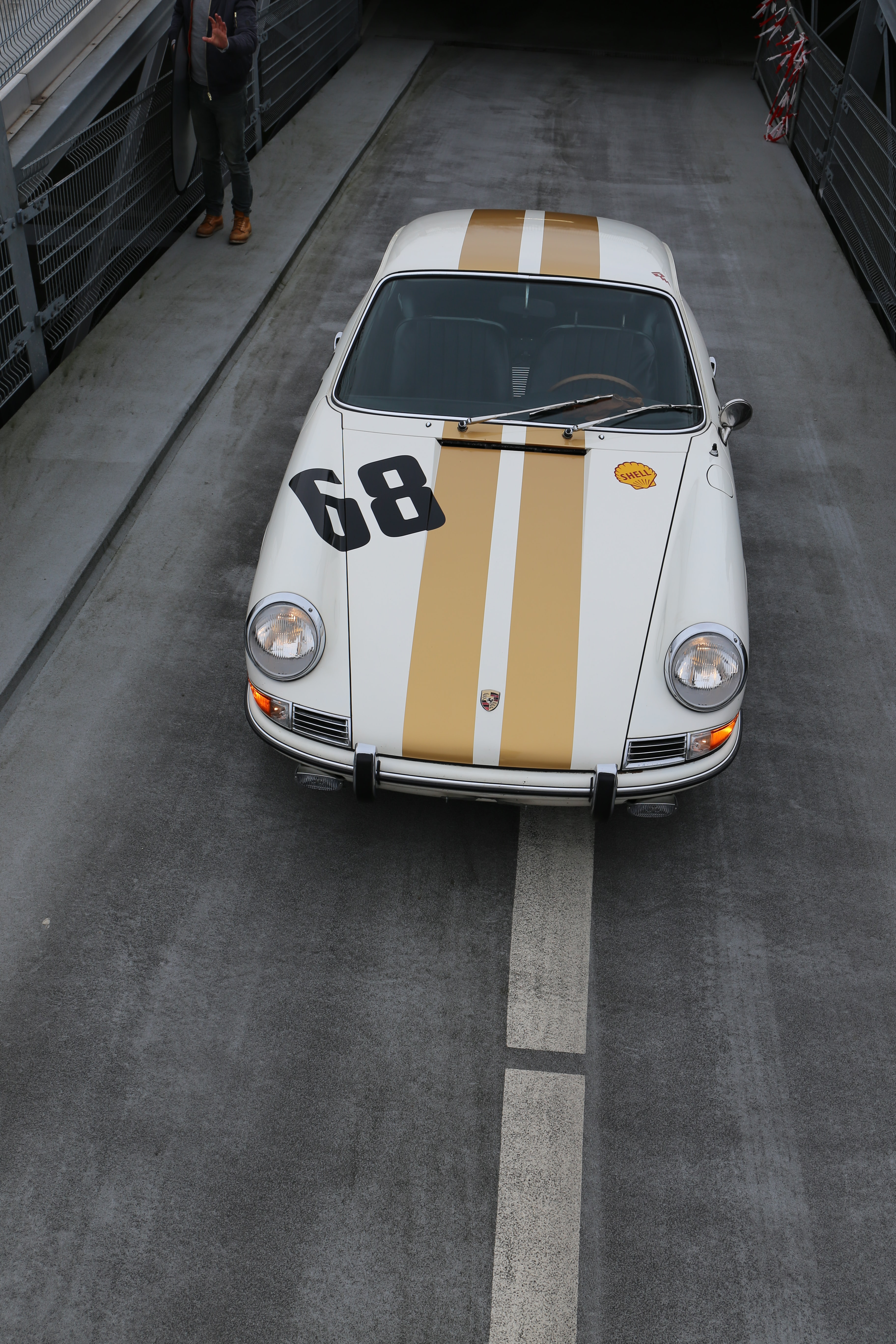 white and brown car