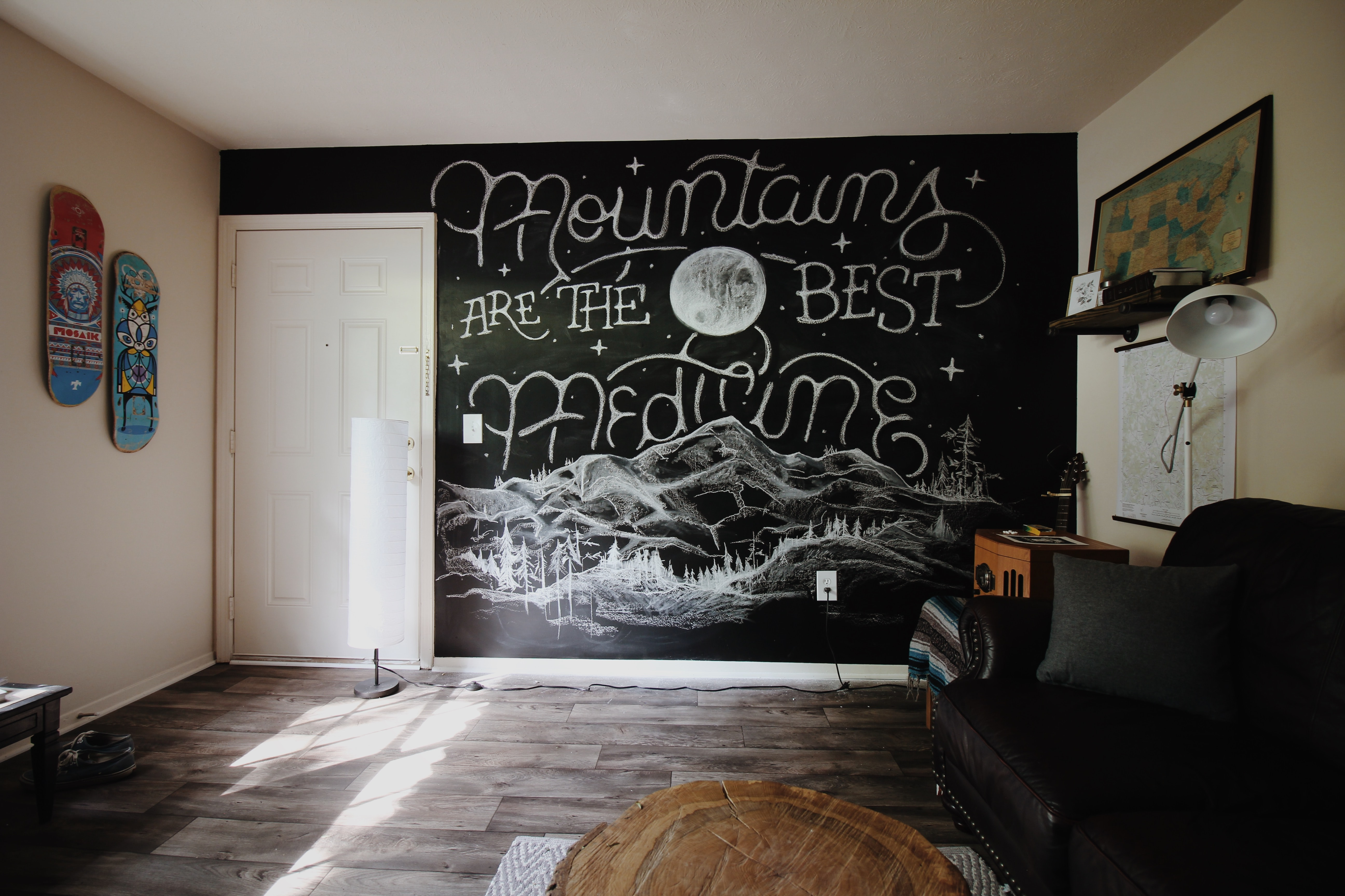 mountains are the best medicine wall painting