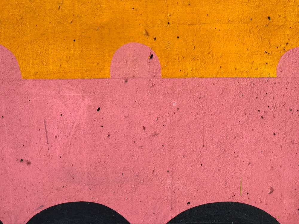 Red and orange textured wall in Underpass Park