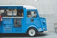 blue food truck