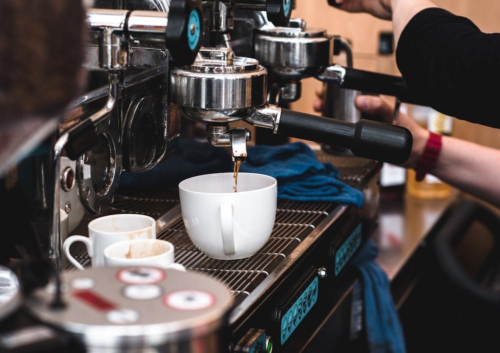 mug on espresso maker