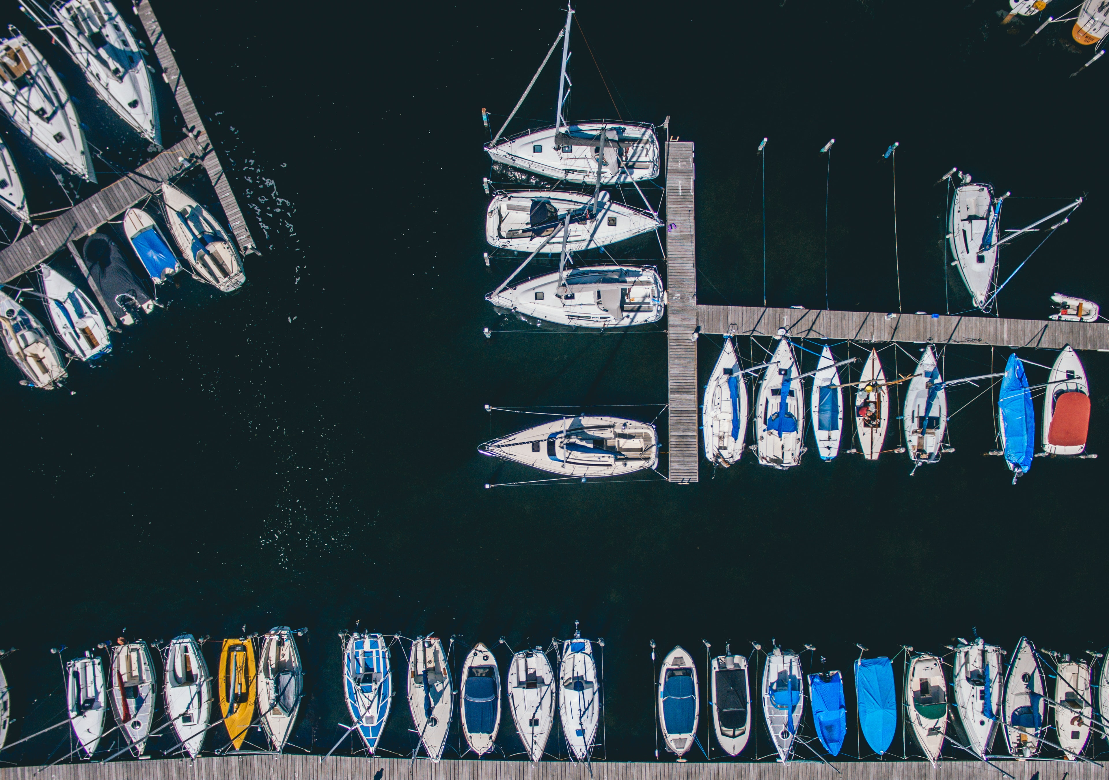 assorted boats on body of water