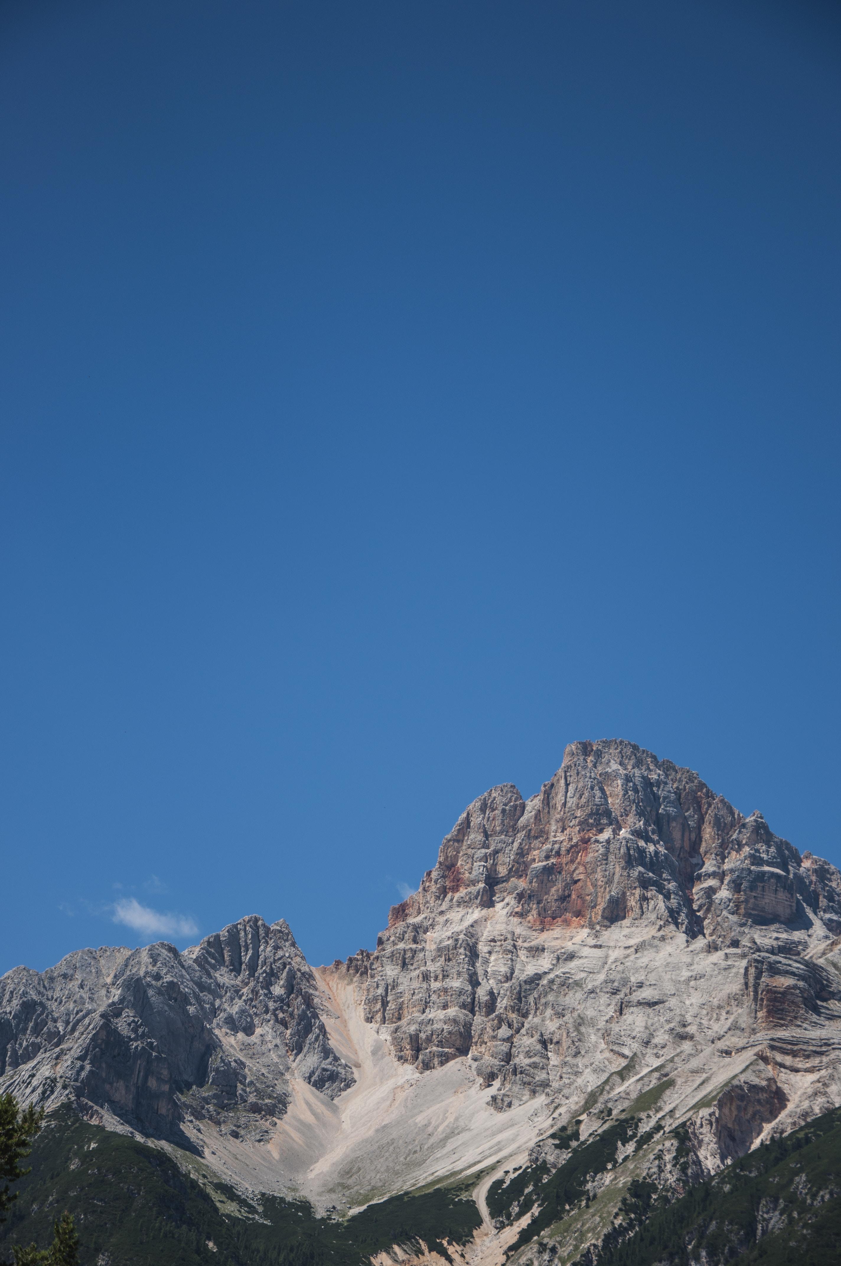 brown rock mountains photo during daytime