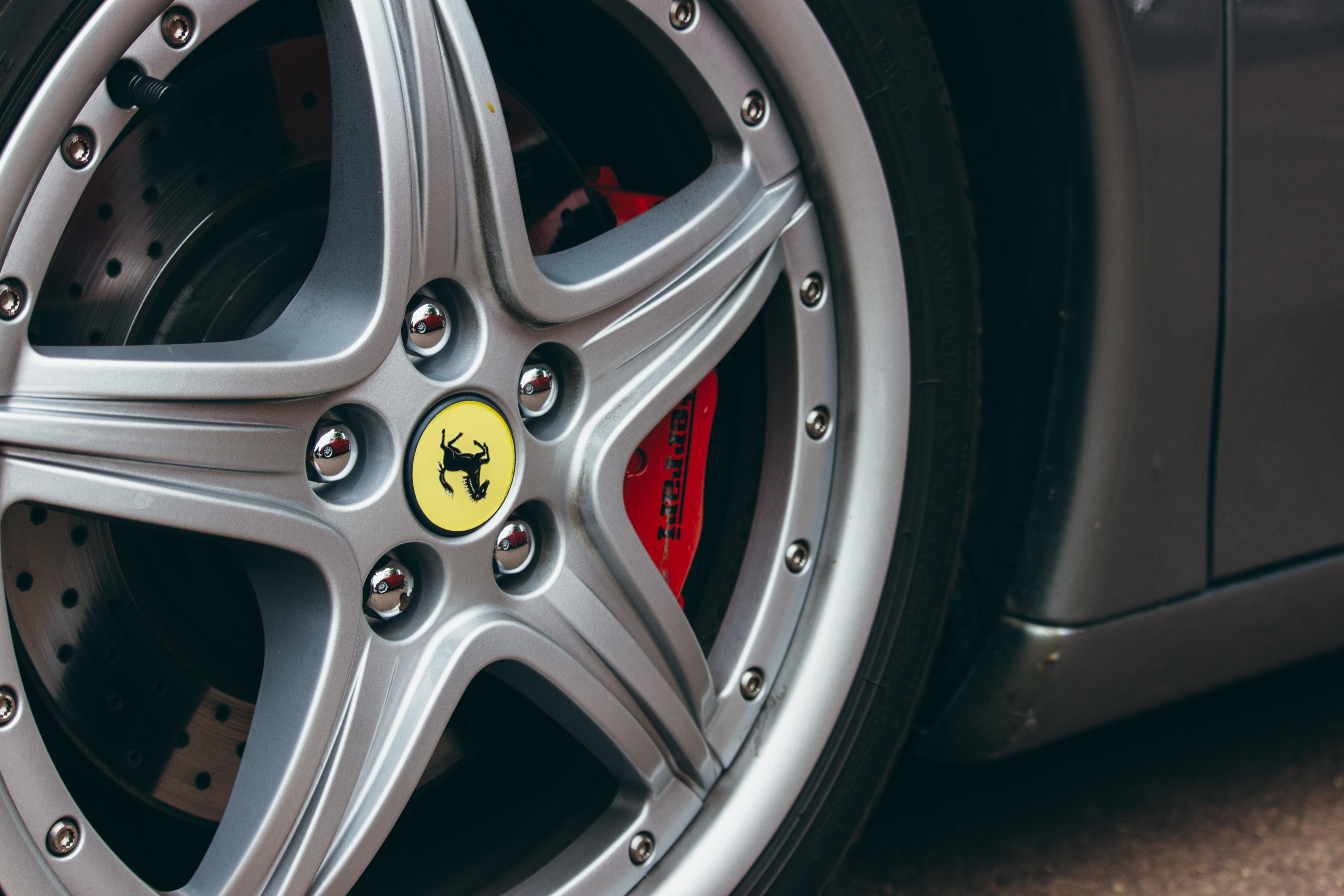 A sports car hubcap.