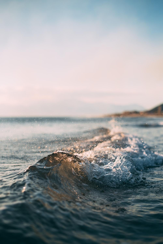 ocean wave at beach