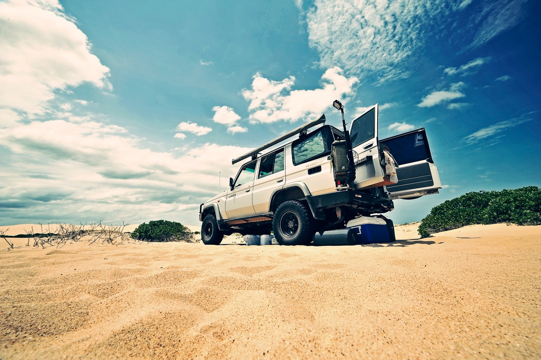 Toyota Land Cruiser on beach