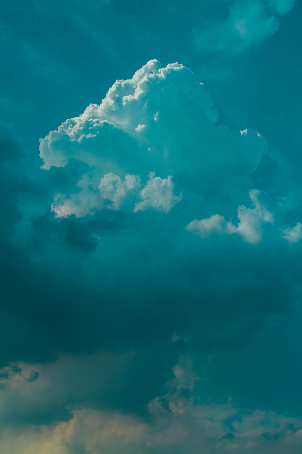 aerial photography of cloudy sky